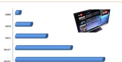 Helft huishoudens tv met internet in 2013